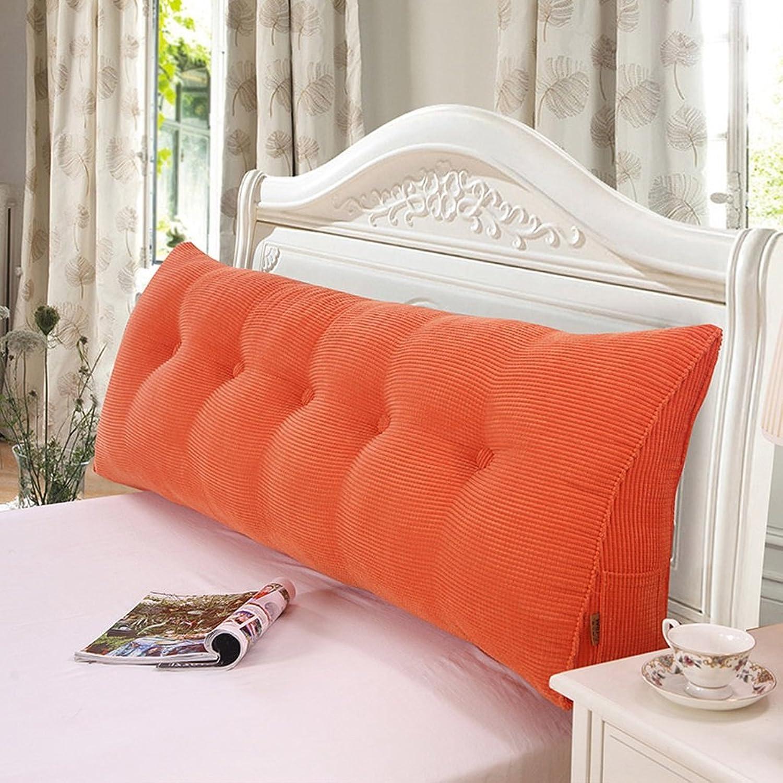 9 couleurs au choix, 4 tailles au choix, coussin de chevet triangle moelleux grand canapé chambre arrière (Couleur   F, taille   200x20x50cm)