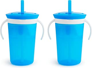 Munchkin SnackCatch & Sip 2-in-1 Snack Catcher and 2 Piece Spill-Proof Cup, Blue