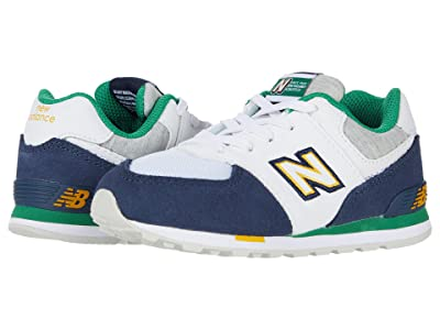 New Balance Kids 574 Varsity Sport (Infant/Toddler) (Natural Indigo/Varsity Green) Boy
