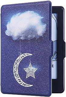 Huasiru Pintura Caso Funda para Amazon Kindle 8th generación (2016 lanzado) con Auto Despertar/Dormir [no Apto para Kindle Paperwhite], Nubes de Cielo