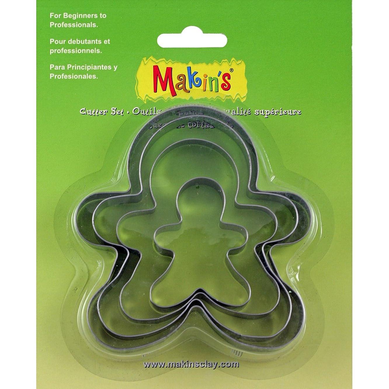 Makin's USA M365-06 Makin's Clay Cutters 4/Pkg-Gingerbread Man
