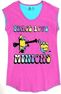 Minions Womens Plus Nightshirt Pajamas (2X, Minion Pink)