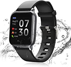 24HOCL Smart Watch Fitness Tracker with Temperature Measurement Heart Rate Monitor 1.3 Inch Single Touch Screen, IP68 Wate...