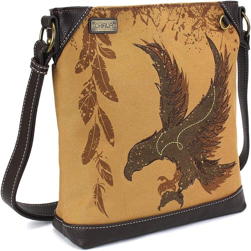 新作販売 Chala Handbag Safari Canvas Messenger Bag Mid-Size 海外 Crossbody