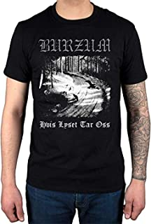 YITUOT Burzum Hvis Lyset Tar OSS T-Shirt Album Music Hlidskjalf Metal for Men T-Shirt Black