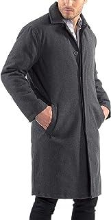 Zach Mens Overcoat Wool Trench Coat Knee Length RUNS LARGE