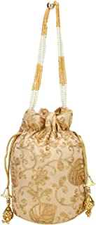 Fantastic Satin Indian Ethnic Potli Bag with Handicraft work