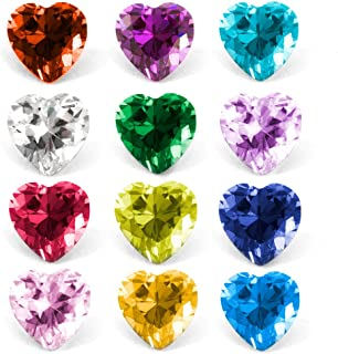 RUBYCA Mix Color Birthstone Crystal Glass Floating Charms fit Living Memory Locket 5mm 12
