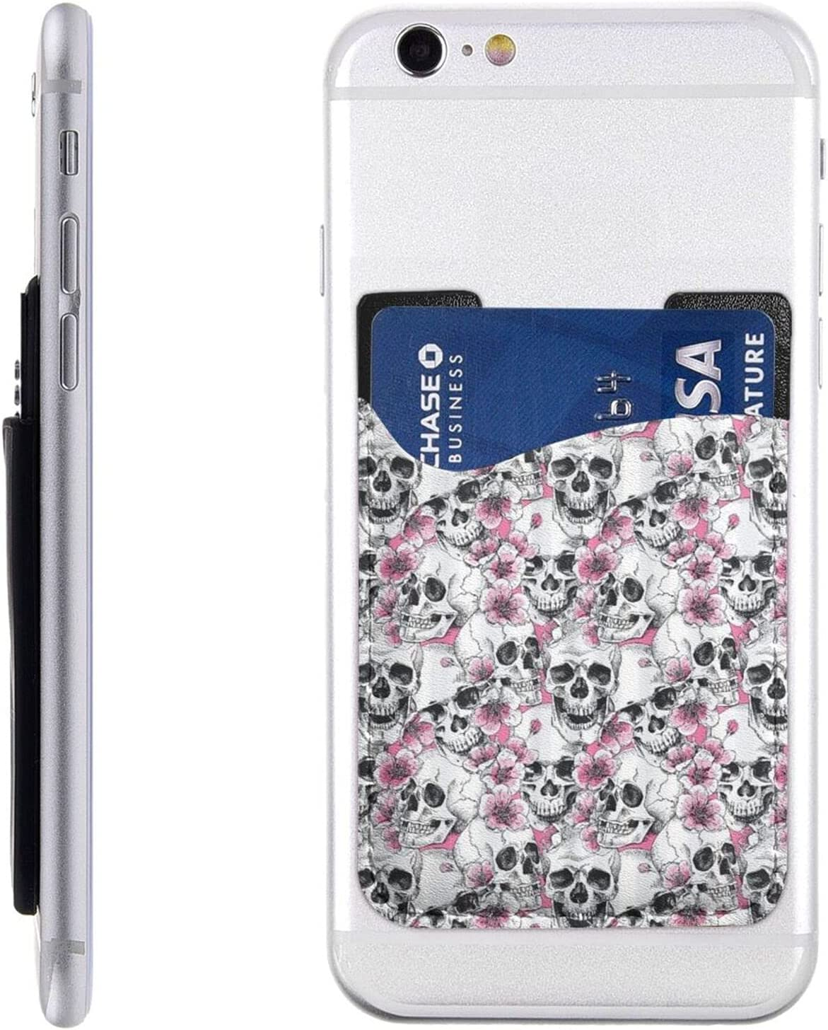 Floral Skull Phone Manufacturer OFFicial shop Card Holder Stick New Shipping Free Cell On Wallet S