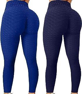 CXDS 2 st dammode stretch yoga leggings fitness löpning gym sport aktiva byxor klassisk magkontroll medium midja träning j...