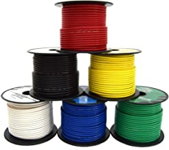 14 GA Single Conductor Stranded Remote Wire 6 Rolls Primary Colors 12V 100'FT EA