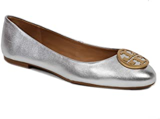 Benton Ballet Flat Metallic Napa Leather
