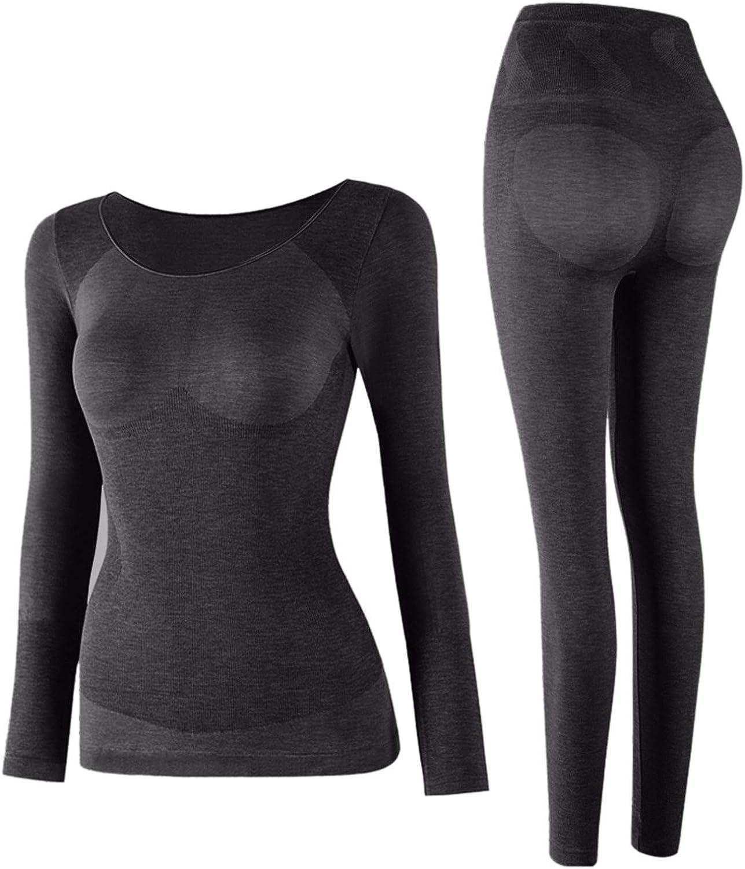 Woman Ultra-Thin Seamless Elastic Thermal Underwear Wear Self-Heating Abdomen Tightening Body Shaping Set