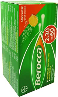Berocca Effervescent Tablets, Orange, 30 X 2 Count (60 Tablets)