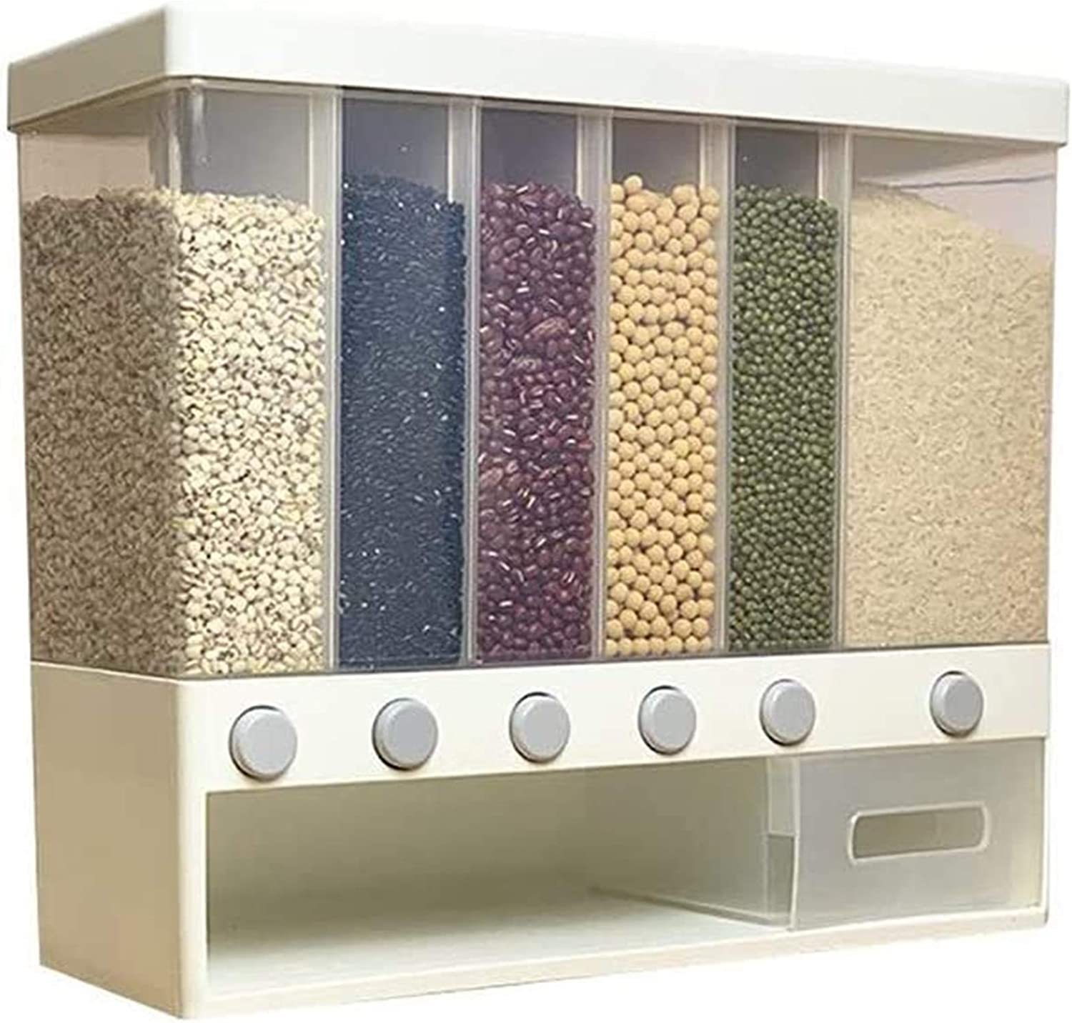 Grain container Rapid rise 10KG Wall SEAL limited product Mounted Rice Divided Dispen and Cereal