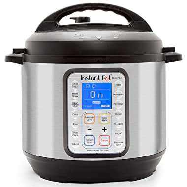 Instant Pot Duo Plus 9-in-1 Electric Pressure Cooker, Sterilizer, Slow Cooker, Rice Cooker, Steamer, Sauté, Yogurt Maker, and Warmer, 8 Quart, 15 One-Touch Programs