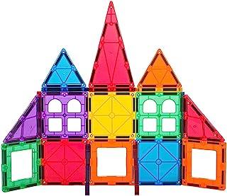 Playmags 32 + 6 sztuk Junior Set: Teraz z silniejszych magnesów solidny, Super Durable z Vivid jasny kolor płytek. 6 sztuk...