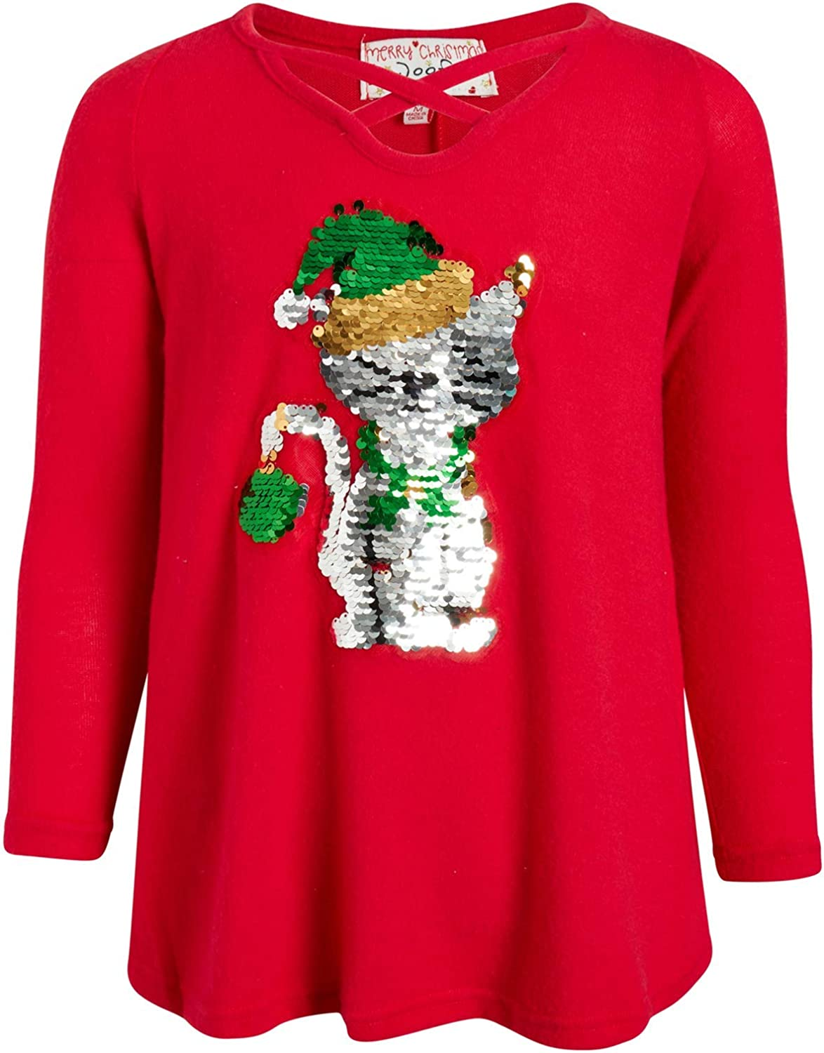 Poof Girl Ugly Christmas Sweater Flip-Sequined Holid Soft New products world's highest quality popular - store Cozy