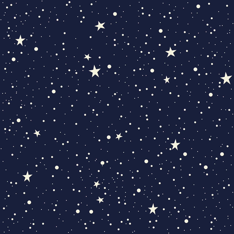 Amazing Wall Night Sky Moon And Stars Pattern Shiny Film Peel And Stick Self Adhesive Wallpaper 15 7x198inch Amazon Com