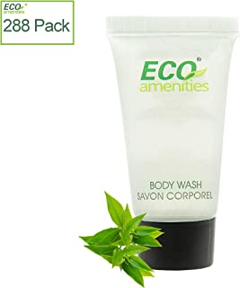 ECO amenities Guest Shower Gel in Travel Size Transparent Tube Flip Cap Individually Wrapped 22ml Hotel Body Wash, 288 Tubes per Case