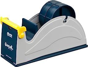 Excell ET-227 Blue/Grey Premium Twin-Roll Steel Desk Top Dispenser: 2 in. Wide (3 in. core)