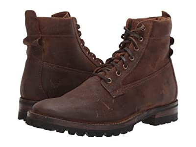 Frye Union Workboot (Brown WP Waxed Suede) Men