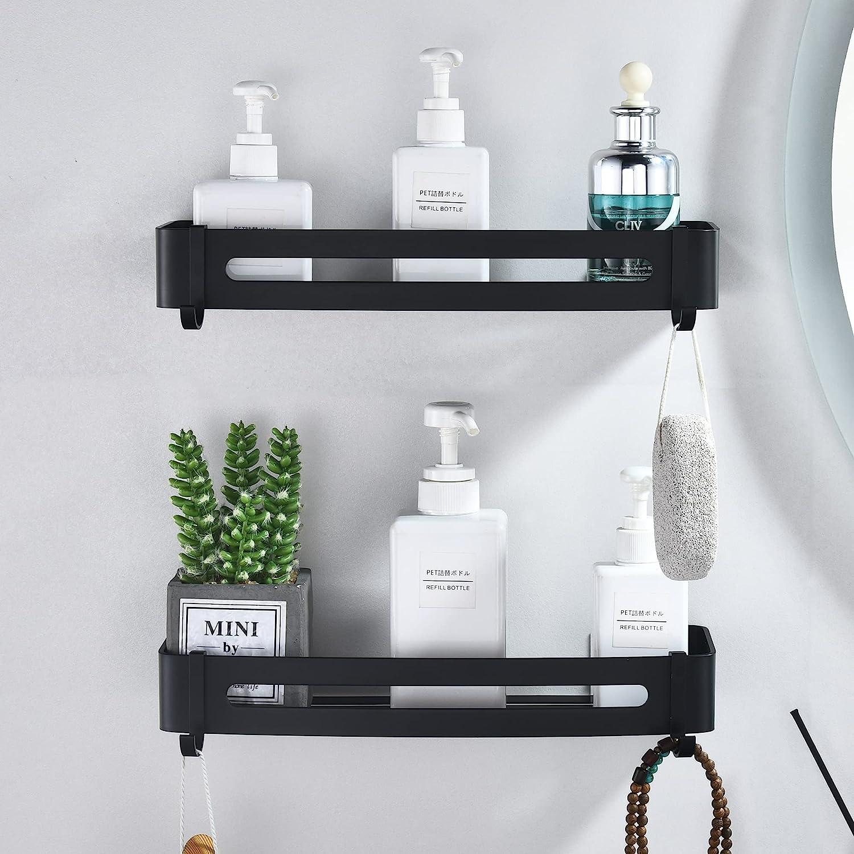 Bathroom safety Storage Shelves Shower Caddy Installa New color Shelf No Drilling