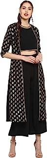 Janasya Women's Crepe Readymade Salwar Suit