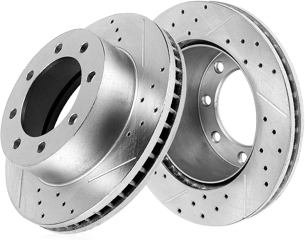 Callahan CDS03555 Courier shipping free REAR 325mm Denver Mall Drilled Lug Slotted 2 Rotors 8