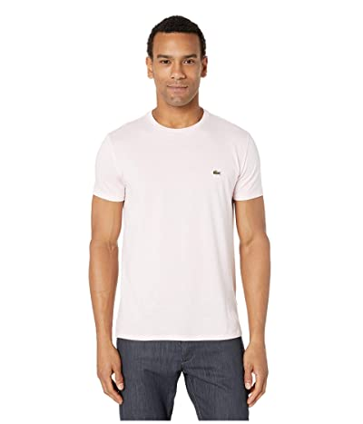 Lacoste Short Sleeve Pima Crew Neck Tee (Flamingo) Men