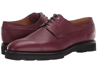 John Lobb Croft Pebble Grain Leather Derby w/ Walking Sole (Russet) Men