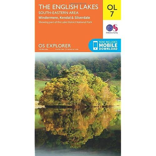 map of south lake district Lake District Map Amazon Co Uk map of south lake district