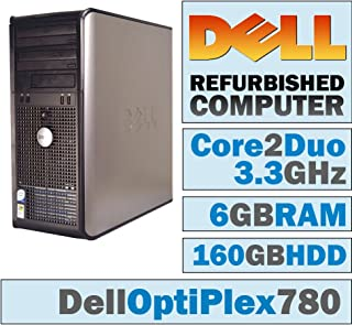 Dell OptiPlex Tower - Core 2 Duo E8600 @ 3.33 GHz/NEW 6GB DDR3 / 160GB HDD/DVD-RW/WINDOWS 10 HOME EDITION (Certified Reconditioned)