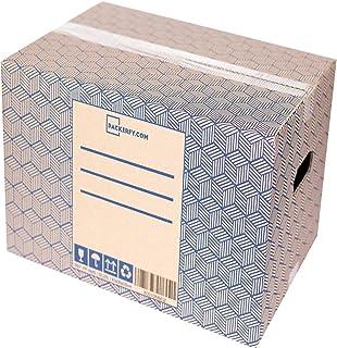 0563290b2 Packerfy.com - Pack de 10 Cajas de Carton para Mudanza y Almacenaje, 43