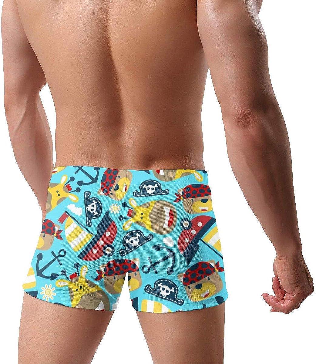 Sailboat Anchor Pirate Hat Men's Swimming Trunks Fitness Swimwear Boxer Pants Board Shorts