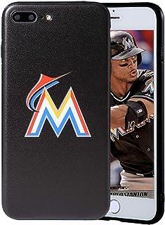 "Sportula MLB Phone Case Matching 2 Premium Screen Protectors Extra Value Set - for iPhone 7 Plus/iPhone 8 Plus (5.5"") (Mia..."
