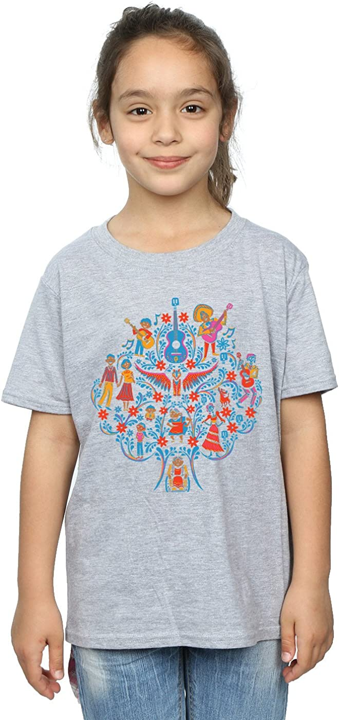 Disney Girls Coco Tree Pattern T-Shirt 5-6 Years Sport Grey