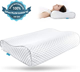 GiiYoon Orthopedic Pillow (Size: 23.2x15.4x4.7/3.5 in) Neck Support Pillows for Side Sleepers, Back and Stomach Sleepers, Contour Pillows for Cervical Pain Relief, Breathable and Washable Removable