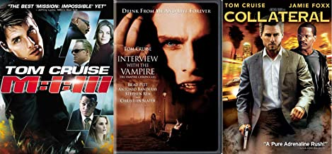Tri-Cruise Adrenaline Collateral + M:i:III Mission Impossible 3 & Interview With A Vampire Tom Cruise Triple Feature