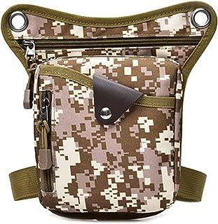 Leg Bags Waterproof Nylon Waist Bag for Men Fanny Pack Bum Waist Bag Hip Thigh Sports Bag Hip Bag Pouch Mens Black