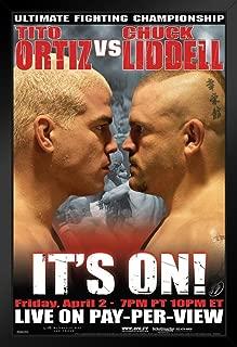 Pyramid America Official UFC 47 Tito Ortiz vs Chuck Liddell Sports Black Wood Framed Art Poster 14x20