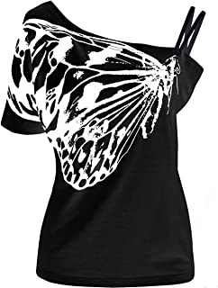 Bigood Gilet sans Manche Femme Et/é T-Shirt Tops D/ébardeur Oiseau