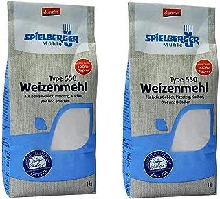 Spielberger Weizenmehl Type 550, Bio, 2 x 1000g
