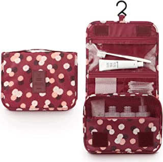 Hanging Toiletry Bag - Large Cosmetic Makeup Travel Organizer for Men & Women with Sturdy Hook