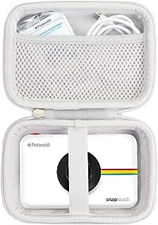Khanka Duro Viaje Estuche Bolso Funda para Polaroid Snap/Snap Touch 2.0 Touch Cámara Digital (Cremallera Blanca)