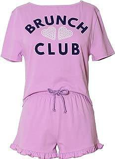 Dreamour Women's Sleepwear Graphic Tee Shirt and Short Pajama Set