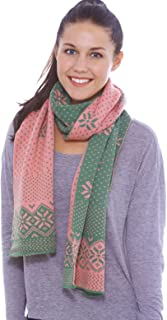 Women's Winter Multi-Color Patterned Reversible Knit Scarf