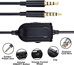 A10 A40 Audio Extension Cable 6.5 Feet Game Headset Replacement Cable for Astro A10 A40 A30 A50 Headsets Cord Inline Mute Volume Control and Microphone Compatible with Xbox One Play Station 4 PS4 HEA