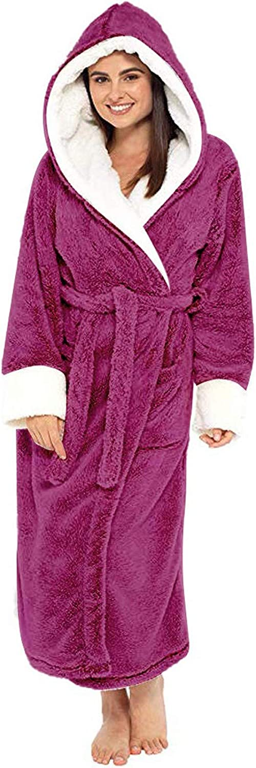 Super popular specialty store Warm Flannel Fleece Robe Free shipping anywhere in the nation for Men She Tall Women Long Plush Big