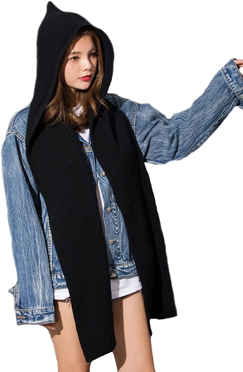 Young_Me Parent-child Winter Cheap mail order specialty store Knit Hooded Wa Neck 67% OFF of fixed price Scarf Headscarf